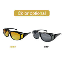 HD Night Vision Unisex Driving Sunglasses Nice Over Wrap Around Glasses Eyewear