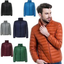 Men DuckDown Jacket Stand collar Puffer Coat Ultralight Outdoor Packable
