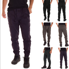 Mens Slim Fit Casual Lace Up Pencil Stretch Long Pant Sports Gym Running Trouser