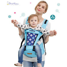 Baby Carrier Backpack with Pure Cotton Waist Stool for 3-36 Month Baby Child