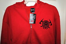 TAPOUT MENS OFFICIAL UFC CONVICTION FULL ZIP UP HOODIE RED SMALL OR MEDIUM NWT