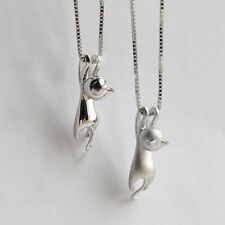 Tiny Cute Cat Pendant Silver Plated Necklace Jewelry Charm
