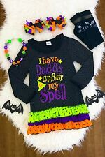 """NEW GIRLS TODDLER """"I HAVE DADDY UNDER MY SPELL"""" RUFFLE DRESS"""