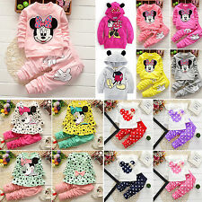 Kids Baby Girls Minnie Mouse Sweatshirt Tops Pants Tracksuit Coat Outfits Set