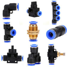 32 Size Pneumatic Push In Fittings Air Valve Water Hose Pipe Connector Joiner MF