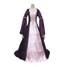 Purple Renaissance Medieval Queen Game of Thrones Dress Gown Halloween Costume