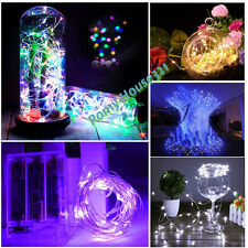 2/4/5M AA Battery Operated Micro Copper Wire 20/40/50 LED Fairy Light Christmas