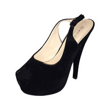 Ladies peep toe platform killer high heel sling back shoes
