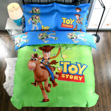 Toy Story Duvet Doona Quilt Cover Set Fitted Sheet Cotton Single/Queen/King Size