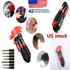 Portable Screwdriver with LED Torch Tools Light Up Flashlight Set Multi-function