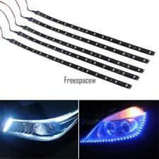 5 x 15 LED 30cm Car Motor Vehicle Flexible Waterproof Strip Light Blue/ FPAW