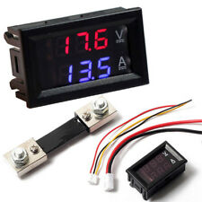 DC 100V Voltmeter Ammeter LED Dual Digital Display Volt Amp Meter Gauge Red Blue