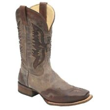 Corral Mens Brown Eagle Inlay Square Toe Western Boot A1172