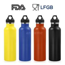 750ml Sports Cycling Water Bottle Wide Mouth Drink Bottle Stainless Steel M1F4