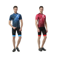 XINTOWN Men's Fashion Summer Breathable Cycling Jersey Bike Short Sleeve Li T7H1