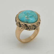 Barse Jewelry Turquoise and Bronze Ring