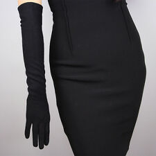 Cashmere Opera Evening Long Arm Warmers Sleeves Merino Hepburn Black Wool Gloves