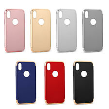 Hybrid 3 in 1 Shockproof Electroplate Hard Bumper Hybrid Case Cover For IPhone