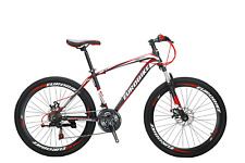 "New 26"" Mountain Bike 21 Gears Disc Brakes Full Bicycle MTB 3X7 Speed 2 Colors"