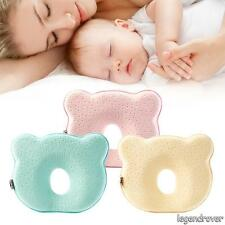 Baby Infant Newborn Memory Foam Pillow Prevent Flat Head Anti Roll Support Soft