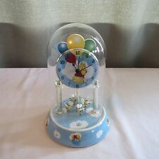 Vintage Collectible Winnie the Pooh & Bumble Bees Domed Clock, Works Great!