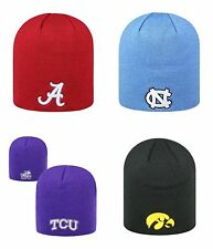 Top of the World Cuffless 2-Side Beanie Hat - NCAA Knit Skull Cap-4 TEAMS CHOOSE