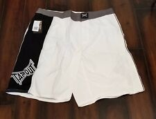 Men's Tapout Delta MMA Fight Shorts White/Black/Grey Brand New with tags