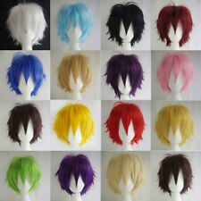 Fancy Dress Black White Pink Cosplay Wig Costume Short Hair Full Wig Party Z859