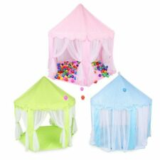 Childrens Portable Pop Up Castle Play House Tent Toy Fairy Indoor Outdoor 4383