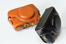 Leather Camera Case Cover Bag Pouch with Strap For Sony Cyber-Shot RX100 III IV