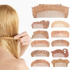 Natural Peach Wood Healthy No-static Massage Hair Wooden Comb Health Care new