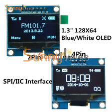 "1.3"" Blue/White IIC SPI Serial 128X64 OLED LCD Display Screen Module For Arduino"