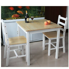 New Dining Wood Table and 2/4Chairs Bistro Set Kitchen Natrual&White 2 Colors