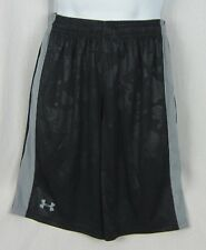 NWT Men's Under Armour Micro Printed Loose Fit Shorts Black/Gray Size M-2XL