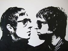 Oasis Brothers Liam Noel Gallagher Art Print/Poster Music