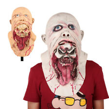 Halloween Latex Costume Bloody Zombie Face Adult Mask Walking Dead Masquerade