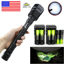 Tactical Police 50000Lumens 3 X T6 LED Flashlight Torch Lamp+18650BTY+Charger
