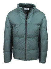 JACKET MENS QUILTED STONE ISLAND ORIGINAL GREEN WINTER FEATHER GOOSE BUMPS