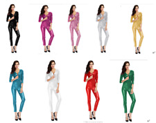 10 Colors Metallic Lycra Zentai Spandex Catsuit Costume Front Zip