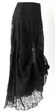 Lagenlook black LACE Victorian steampunk long hitch skirt 8-16 NEW Quirky/Gothic