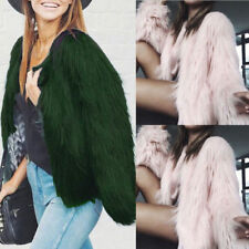 Luxury Winter Women's Casual Outerwear Coat Fox Fur Jacket Coat Cardigan Tops US