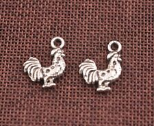 FREE SHIP 10pcs Tibetan Silver Chicken Rooster Charms Pendants Necklace 21MM Z12