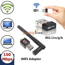 Mini USB 2.0 150Mbps 802.11N/G/B WiFi Antenna LAN Card Adapter Wireless Network