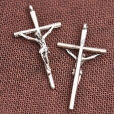 Wholesale 5Pcs Tibetan Silver Cross Charms Pendants Jewelry 60X32MM Z350