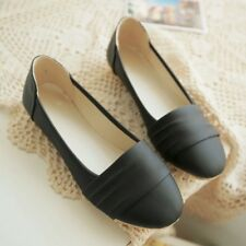 Nice!!  Womens Leather Flat Heela Slip-on Casual Solid Ballet Ballerinas Shoes