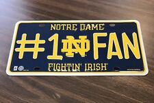 Notre Dame Fighting Irish #1 Fan License Plate NCAA Football Basketball
