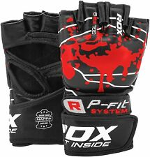 RDX Grappling Gloves MMA Boxing Training Mitts Sparring Fitness Cage Fight Red