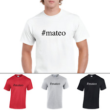#mateo Mateo Funny Mens Hashtag Gildan Cotton T-Shirt New