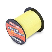 Hot Sale! Yellow 300M Super Power Braided Fishing Line PE 4Strand, 6LBs-80LBs US