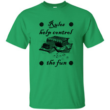 Rules Help Control the Fun Rulebook RPG Role Playing Game Dice Table Geek Tshirt